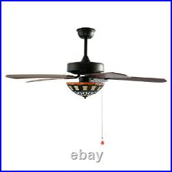 52 Ceiling Fan Chandelier LED Light Modern Remote Control 3 Speed Tiffany Style