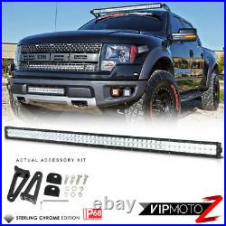 52 Inch Roof Grill Mount SMD CREE LED Lights Bar Driving Lamps 300W FLOOD SPOT