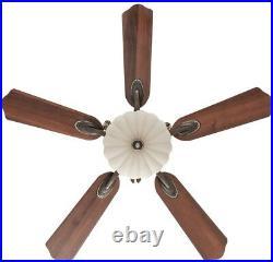 52 in. LED Ceiling Fan Remote Elegant Old World Bowl Light Tuscan Fixture