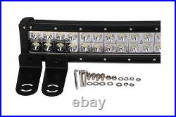 52in 300W Curved LED Light Bar + Mounting brackets for 99-15 Ford F250 F350 Kit