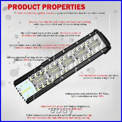 52inch 3800W Curved Light Bar Tri-Row Spot Flood Combo Beam offroad Roof Driving