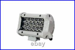 5 White Triple Row LED Light Bar Spot Harness Switch docking marine boat camper