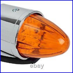 5x 17 LED Amber Torpedo Cab Roof Running Top Light For Kenworth Peterbilt Truck