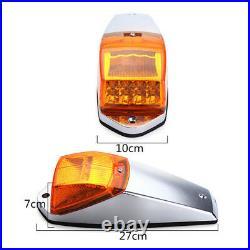 5x Amber Cab Marker Warn Light Top Roof Light LED For Trucks Peterbilt Kenworth