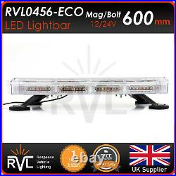 600MM LED Beacon Yellow Amber Strobe Recovery Light bar 12/24v Flashing Roof