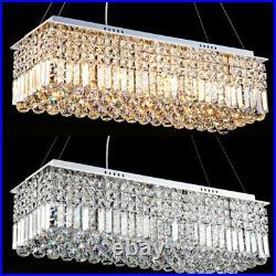 60/80C Modern K9 Crystal Pendant rectangle Ceiling Lamp Chandelier Lighting