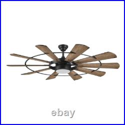60 Large Windmill Ceiling Fan + Remote Industrial Farmhouse Steampunk Light