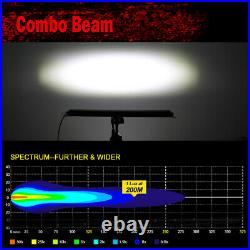 6D 52 1500W LED Light Bar High Output Flood Spot LAND ROVER DEFENDER 90 110 130