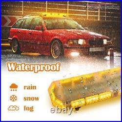 88LED 48 Emergency Traffic Advisor Double Side Warning Strobe Light Bar Amber