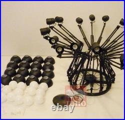 9 Lights Black Spider Pendant Lamp Ceiling Light Scaleable Arms Loft Chandelier