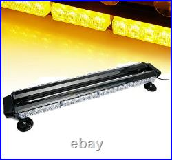 Amber 26.5 High Intensity Double Side Warning Strobe Light Bar with Magnetic