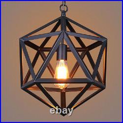 Bar Lamp Vintage Pendant Light Black Chandelier Lighting Kitchen Ceiling Lights