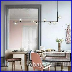 Black Chandelier Lighting Kitchen Lamp Glass Pendant Light Bar LED Ceiling Light