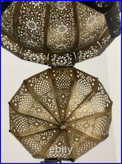 Black/Gold Moroccan Turkish Lamp Hanging Ceiling Light Fixture Oriental Lantern
