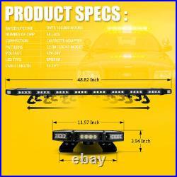 Black Hawk 48 Vehicle Roof Top Security Emergency Warning Amber LED Light Bar