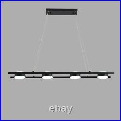 Black Pendant Light Bar LED Lamp Large Chandelier Lighting Kitchen Ceiling Light