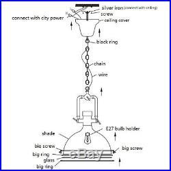 Black Pendant Light Vintage Chandelier Lighting Bar Lamp Kitchen Ceiling Lights