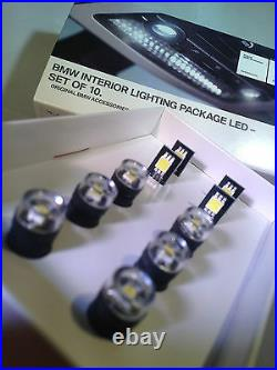 Bmw Led Interior Light Bulb Package Genuine Set Of 10 63122212788