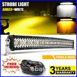 CREE 32inch Amber/White/Strobe LED Offroad light Bar ATV SUV 4X4 Truck PK 42 52