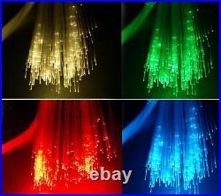 Car LED Ceiling Light Fiber Optic Star Kit RGBW Light Source+300pcs Fiber Cables