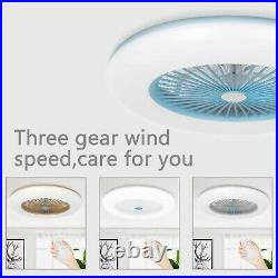Ceiling Fan with Lighting LED Light Adjustable Wind Speed Remote Control UK