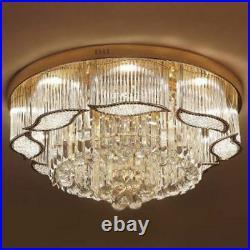 Crystal K9 Chandelier Ceiling Light Flush Mount Luxury Pendant Lighting 60cm
