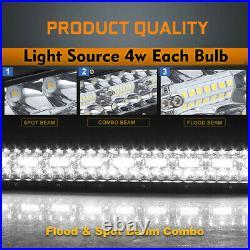 Curved 52 INCH 3200W 12D Tri-Row LED LIGHT BAR Spot Flood COMBO BOAT VS 50 54