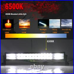 Curved 52inch 3800W LED Light Bar Flood Spot Roof Driving Truck RZR SUV 4WD 50'
