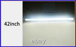 Curved 7D Quad Row 42 inch 696W LED Light Bar Spot Flood Combo Jeep SUV 4X4