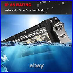 Curved Tri Row LED Light Bar Spot Flood Driving Offroad 52/50/42/32/22'' +wiring