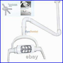 Dental Oral Light Dentist Operating Lamp 6 LED Lens Ceiling-mounted Type Withh Arm