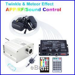 Fiber Optic Light APP Control 10W RGBW TWINKLE LED Star Ceiling Meteor Lights 2m