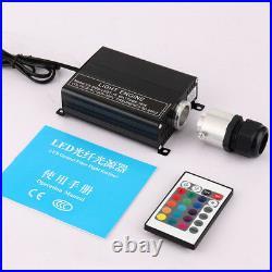 Fiber Optic RGBW Twinkle PMMA Fiber LED Optical Star Ceiling Kit Light 300pcs2M