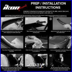 Fits 94-00 RAV4 OE Factory Style Roof Spoiler & LED Light Matte Black ABS