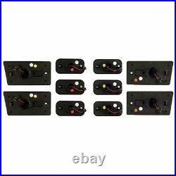 For 03-09 Hummer H2 /SUT SUV Smoke Lens Amber Red LED Roof Cab Marker Lights Set