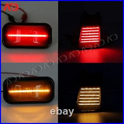 For 2003-2009 Hummer H2 14pcs LED Cab Roof Running Light Side Marker Lamp Smoked