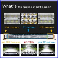 For 2003-2018 Dodge Ram 1500 Express 40/42 LED Light Bar Front Lower Bumper 10D