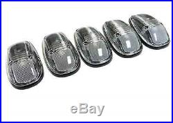 For 99-02 Dodge Ram 2500 3500 Clear Amber Led Cab Roof Marker Lights Clearance