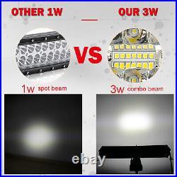 For Dodge Ram 1500 2500 3500 2003-18 Bumper 42 LED Curved Light Bar +Wiring Kit