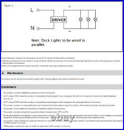 HPM DEKIA Step Deck Decklight LED Light Marine Grade Stainless Steel Kit 4 Pack