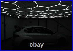 Hexagon LED Lighting Car Detail Garage Workshop Retail Lighting UK Stock Inc VAT