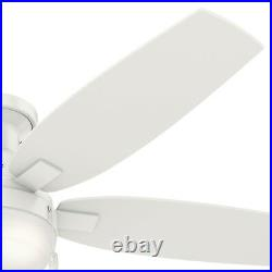 Hunter 52 in. Contemporary Ceiling Fan with LED Light Kit, Fresh White