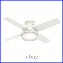 Hunter Fan 44 inch Contemporary Low Profile Fan with LED Light Kit & Remote