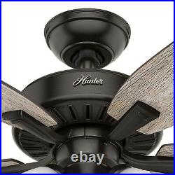 Hunter Fan 48 inch Indoor Noble Bronze Ceiling Fan with Light Kit and Pull Chain
