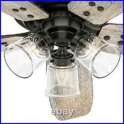 Hunter Fan 52 in Casual Noble Bronze Indoor Ceiling Fan with Light and Remote
