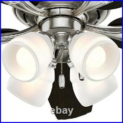 Hunter Fan 52 inch Brushed Nickel Casual Ceiling Fan with 4 LED Lights