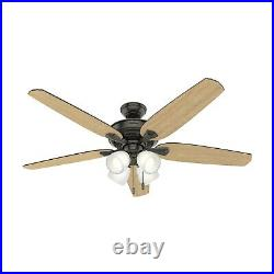 Hunter Fan 60 inch Noble Bronze Indoor Ceiling Fan with Light Kit and Pull Chain
