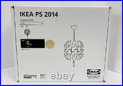 IKEA PS 2014 Ceiling Pendant Lamp Contempo Modern 14 White Copper 303.114.92