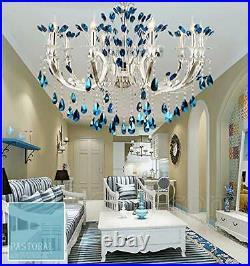 K9 Crystal Chandelier Modern Pendant Lamp LED Ceiling Light Flush Mount Fixture