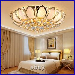 K9 Crystal Lotus LED Chandelier Bedroom Home Ceiling Lamp Lighting Fixture Decor